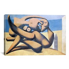 'Figure The Sea' by Pablo Picasso Painting Print on Canvas