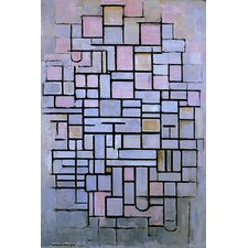 'Composition 6, 1914' by Piet Mondrian Painting Print on Canvas