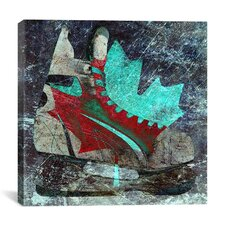 Canada Hockey Ice Skates #2 Graphic Art on Canvas