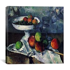 """Compotier, Glass and Apples"" Canvas Wall Art by Paul Cezanne"