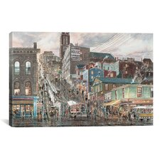 'Kearny St. San Francisco' by Stanton Manolakas Painting Print on Canvas