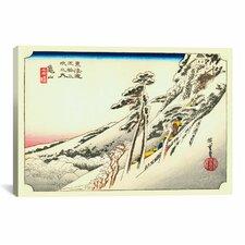 Ando Hiroshige 'Kameyama' by Utagawa Hiroshige l Graphic Art on Canvas