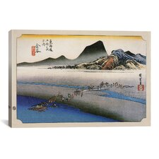 Ando Hiroshige 'Kanaya (Takaido)' by Utagawa Hiroshige l Graphic Art on Canvas