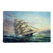"Decorative Art ""Clipper Ship Surprise"" by Nicky Boehme Painting Print on Canvas"