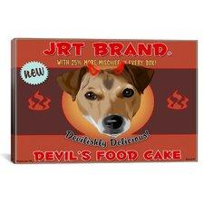 'JRT Devil' by Brian Rubenacker Vintage Advertisement on Canvas
