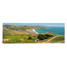 Panoramic Marin Headlands and Rodeo Cove San Francisco, California Photographic Print on Canvas