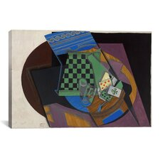'Damier et Cartes a Jouer (Checkerboard and Playing Cards)' by Juan Gris Painting Print on Canvas
