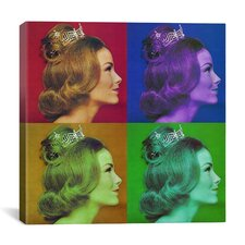 Miss America Competition 1966 Pop Graphic Art on Canvas
