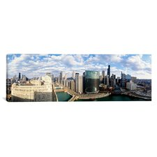 Panoramic 'Cityscape Chicago Illinois' Photographic Print on Canvas