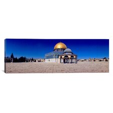 Panoramic Dome of the Rock Temple Mount, Jerusalem, Israel Photographic Print on Canvas