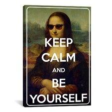 Keep Calm and Be Yourself Textual Art on Canvas