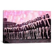 Miss America Competition 1943 Lineup Memorabilia on Canvas