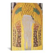 'Diesen Kuss Der Ganzen Welt 1902' by Gustav Klimt Painting Print on Canvas
