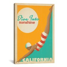 'Dive into Sunshine - California' by Anderson Design Group Vintage Advertisement on Canvas