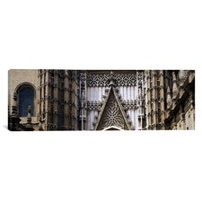 Panoramic Close-up of a Cathedral, Seville Cathedral, Seville, Spain Photographic Print on Canvas