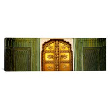 Close-up of a Closed Door of a Palace, Jaipur City Palace, Jaipur, Rajasthan, India Canvas Wall Art