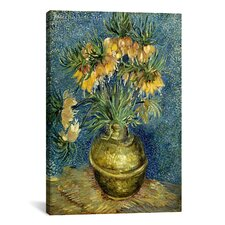'Crown Imperial Fritillaries in a Copper Vase' by Vincent van Gogh Painting Print on Canvas