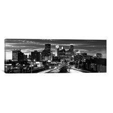 Panoramic 'Minneapolis Skyline Cityscape (Evening)' Photographic Print on Canvas