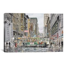 'Eddy St: San Francisco' by Stanton Manolakas Painting Print on Canvas