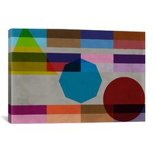 Modern and the Power Geometric Composition Graphic Art on Canvas