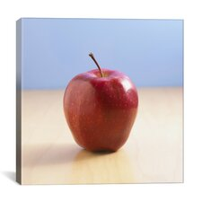 Red Apple on Wood Desk Photographic