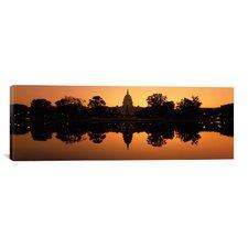 Panoramic 'Capitol Building, Washington DC' Photographic Print on Canvas