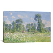 Effet De Printemps a Giverny 1890 by Claude Monet Painting Print on Canvas
