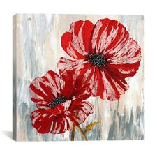 """""""Red Poppies II"""" Painting Print on Canvas"""
