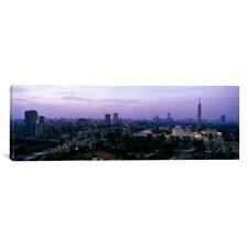 Panoramic Dusk Cairo Gezira Island Egypt Photographic Print on Canvas