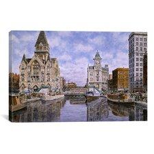 'Dewitt Clinton Square, California 1907, Syracuse New York' by Stanton Manolakas Painting Print on Canvas