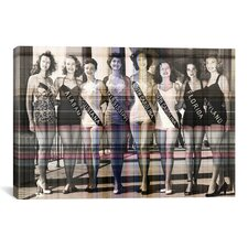 Miss America Competition 1953 Swimsuits Graphic Art on Canvas