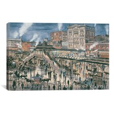 'Greely Square, N Y C, Ca 1896' by Stanton Manolakas Painting Print on Canvas