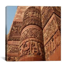 Delhi's Tower of Victory Carvings Photographic Canvas Wall Art