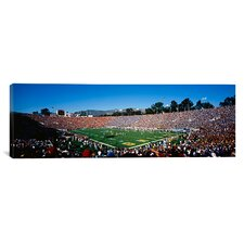 Panoramic Rose Bowl Stadium, Pasadena, California Photographic Print on Canvas
