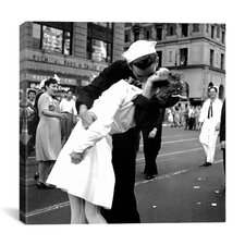 """Kissing the War Goodbye"" Canvas Wall Art"