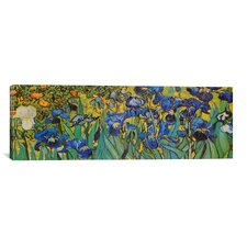 Panoramic 'Irises' by Vincent Van Gogh Painting Print on Canvas