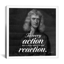 Isaac Newton Quote Canvas Wall Art