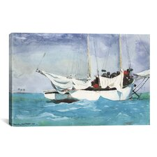 'Key West, Hauling Anchor 1903' by Winslow Homer Painting Print on Canvas