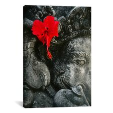 Ganesh Holy Hindu God Statue Photographic Print on Canvas