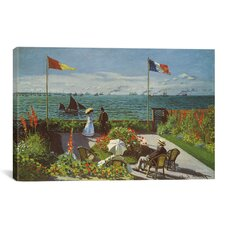 'Garden at Sainte-Adresse 1867' by Claude Monet Painting Print on Canvas