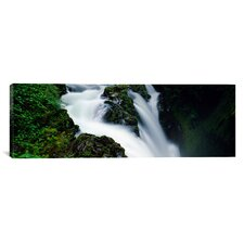 Panoramic Sol Duc Falls, Olympic National Park, Washington State Photographic Print on Canvas