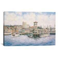 'Coleman Docks, California, 1911' by Stanton Manolakas Painting Print on Canvas