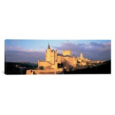 Panoramic Alcazar Castle, Old Castile, Segovia Spain Photographic Print on Canvas