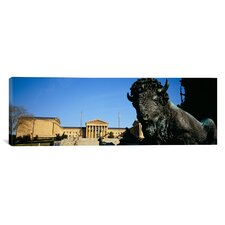 Panoramic Philadelphia Museum of Art, Philadelphia, Pennsylvania Photographic Print on Canvas