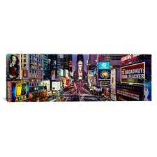 Panoramic Traffic on a Road, Times Square, Manhattan, New York Photographic Print on Canvas