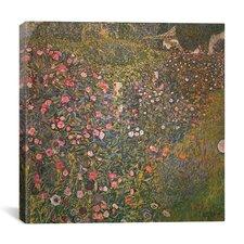 """Italienische Gartenlandschaft (Italian Horticulture Landscape)"" Canvas Wall Art by Gustav Klimt"