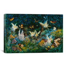Decorative Art 'Forest Fairies' by Bill Bell Painting Print on Canvas
