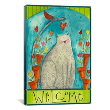 'Kitty Welcome' by Pat Yuille Painting Print on Canvas