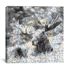 Male Canadian Moose #3 Graphics Art on Canvas