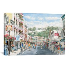 'Main St: Mackinaw' by Stanton Manolakas Painting Print on Canvas